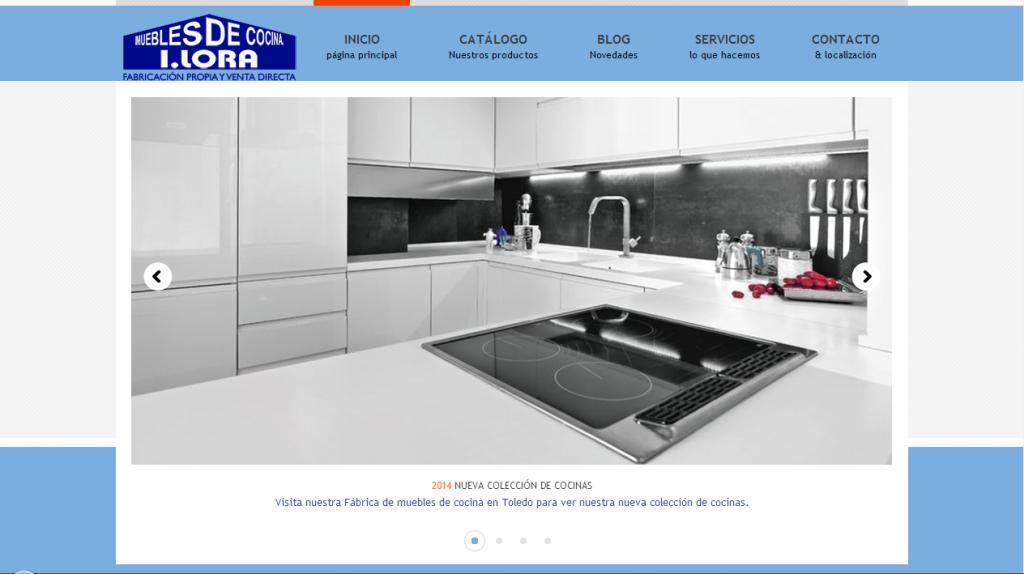 P gina web muebles de cocina lora dise o web gr fico y for Pagina web muebles